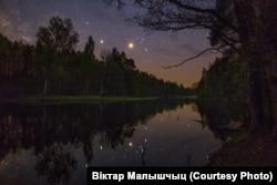 Чорнае возера ў Налібоцкай пушчы