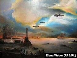Копия картины художника Айвазовского, написанная темиртауским художником Гафуром Тимерьяновым.