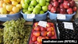 Продовольственный рынок Ашхабада