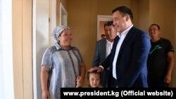 Президент Садыр Жапаров Максат айылында.