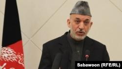 Ауғанстан президенті Хамид Карзай.