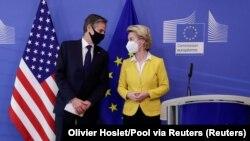 Antony Blinken i Ursula von der Leyen u Brusselsu, mart 2021. godine
