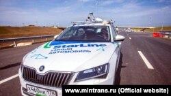 Безпілотний автомобіль на автопідході до Керченського мосту 8 травня 2018 року
