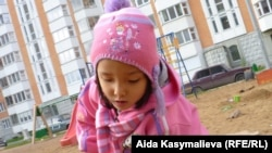 Aida's daughter Bermet didn't find a very warm welcome in Russia.