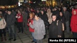 Protest prosvetnih radnika u Užicu