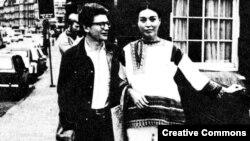 Андрей Амальрик и его жена Гюзель. Париж, 1976