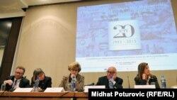 Na skupu povodom 20 godina rada Haškog tribunala, Sarajevo, 27. novembar 2013.