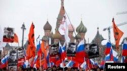На акції пам'яті Нємцова біля Кремля