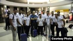 تیم ملی والیبال ایران پس از ورود به آمریکا