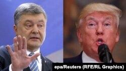 Украина президенті Петр Порошенко мен АҚШ президенті Дональд Трамп.