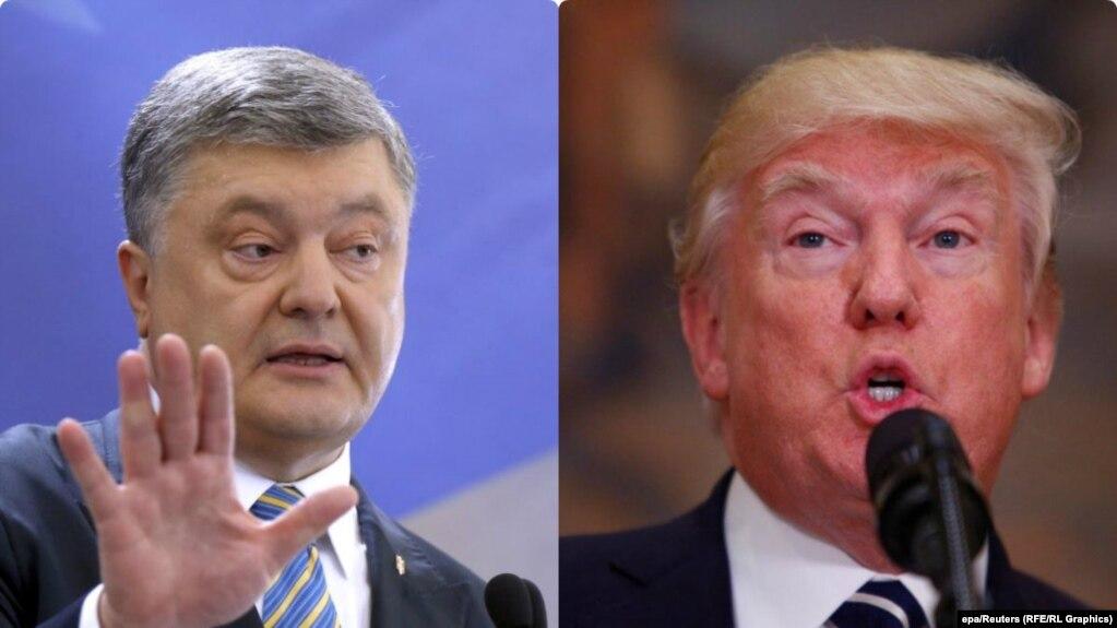 Ukrainian President Petro Poroshenko (left) is due to meet U.S. President Donald Trump at the White House on June 20. (combo photo)