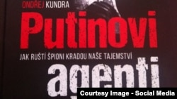 Фрагмент обкладинки книжки Ондржея Кундри «Агенти Путіна»