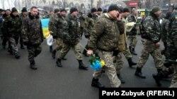 Ілюстрацыйнае фота. 12-га батальён тэрытарыяльнай абароны, Кіеў, 2014 год