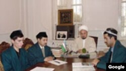 Imam Anvar Tursunov (center) in an undated photo