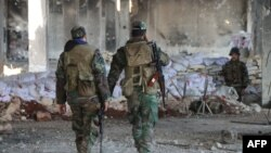 Сирийские солдаты в Идлибе, 17 февраля 2020 года.
