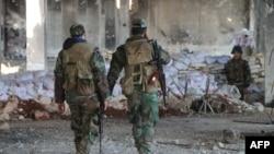 Солдаты сирийской армии в северной части Алеппо, февраль 2020 года.