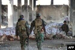 Солдаты сил Асада