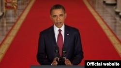 باراک اوباما بههنگام اعلام خبر مرگ اسامه بن لادن