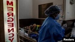 Заражаны каранпвірусам пацыент у шпіталі ў Нью-Дэлі