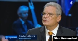 Președintele Joachim Gauck în știrile TV de astăzi la Leipzig