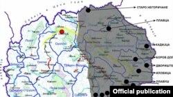 """Концесии за рудници во источна Македонија. Извор """"Еко-свест."""""""