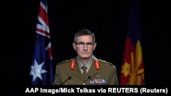 Šef odbrambenih snaga Australije, general Angus Campbell na konferenciji za medije saopštava rezultate istrage o zločinima u Avganistanu