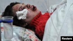 Журналистка Татьяна Чорновил на больничной койке после избиения. Киев, 25 декабря 2013 года.