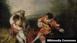Жан-Антуан Вато, «Неспадзяванка» (1718)