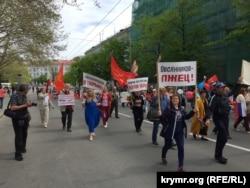 Праздничная демонстрация в Севастополе, 1 мая 2019 года
