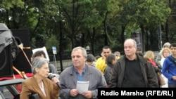 Вена -- Нохчийн мухIажираш Австрера цIехьа хьежорна дуьхьал хиллачу митингехь. 15Товб2012.