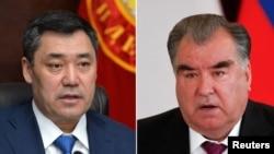 Президенты Кыргызстана и Таджикистана Садыр Жапаров и Эмомали Рахмон.