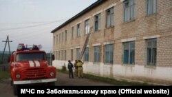 Пожар в районной больнице села Шелопугино Забайкальского края