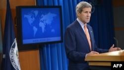 ԱՄՆ պետքարտուղար Ջոն Քերրին ներկայացնում է Մարդու իրավունքների 2014 թվականի զեկույցը, Վաշինգտոն, 25-ը հունիսի, 2015թ․