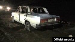 Машина с тремя людьми была изрешечена пулями в районе Агачаула в Дагестане ночью 11 января 2019 года