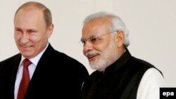 Minister Narendra Modi və Vladimir Putin