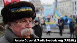 Учасник Євромайдану, одна з фотографій Радіо Свобода на виставці
