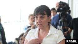 Марийка Цоцория, «Казатомпром» компаниясының тұтқындалған вице-президенті Малхаз Цоцорияның зайыбы. Алматы, 3 маусым 2009 ж.