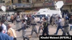 جانب من تظاهرة في بغداد