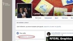Лариса Броднік - судячи з її профілю, киянка