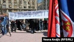 Sa protesta penzionera u Beogradu, 2015.