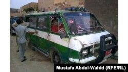 """احدى سيارات الـ """"راف"""" التي تسير في شوارع الهندية"""
