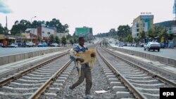 Кадр із життя Аддіс-Абеби, Ефіопія, архівне фото