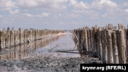 Соленое озеро Сасык-Сиваш