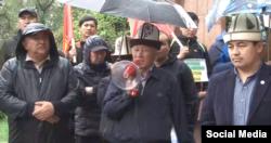 A rally against uranium mining in Bishkek on April 30
