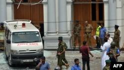 Жарылыс болған орындардың бірі. Шри-Ланка, 21 сәуір 2019 жыл.
