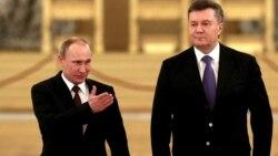 Президент России Владимир Путин и президент Украины Виктор Янукович (справа). Москва, 17 декабря 2013 года.