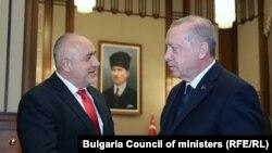 Българският премиер Бойко Борисов и турският президент Реджеп Ердоган