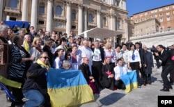 Папа Франциск зустрівся у Ватикані з українцями, 18 лютого 2015 року