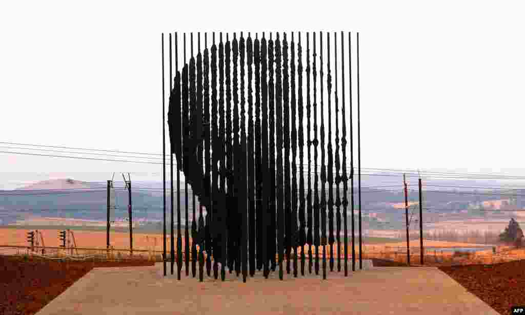 A sculpture of former President Nelson Mandela that was erected near Durban in August 2012 to commemorate the 50th anniversary of Mandela's capture by apartheid police