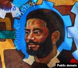Морис Бишоп на уличной фреске. Гренада, наши дни
